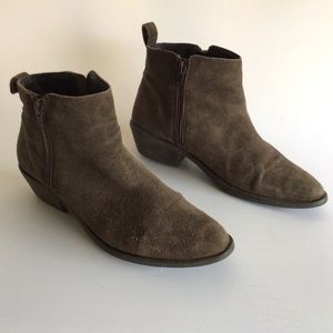7 attention suede leathers ankle boots shoes